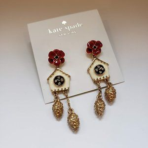 Kate Spade Ooh La La Cuckoo Clock Dangle Earrings